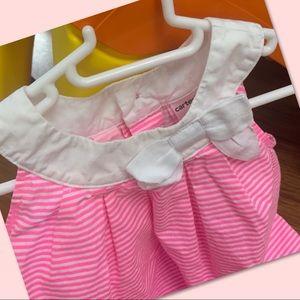 Carter's Dresses - 💞2 for $10💞Carter's pink & white dress 9M